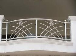 Ahmedabad window designer ss grill ss railing work ss for Balcony steel grill design